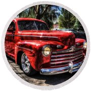 A Cool 46 Ford Coupe Round Beach Towel