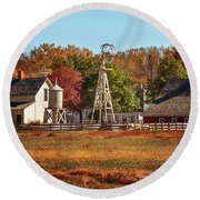 A Country Autumn Round Beach Towel