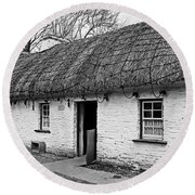 A Country Cottage Round Beach Towel by Martina Fagan