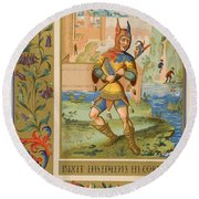 A Court Fool Of The 15th Century. 19th Round Beach Towel