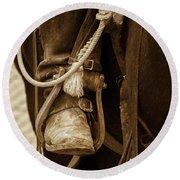 A Cowboy's Boot Round Beach Towel