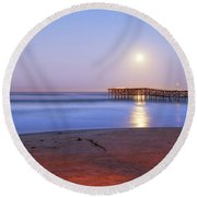 A Crystal Moon Round Beach Towel