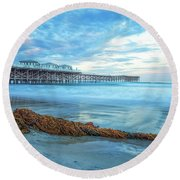 A Crystal Morning Round Beach Towel by Joseph S Giacalone