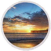 A Crystal Sunset Round Beach Towel