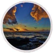 A Dali Like Sunset Round Beach Towel by Craig Wood