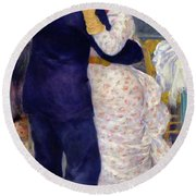 A Dance In The Country Round Beach Towel