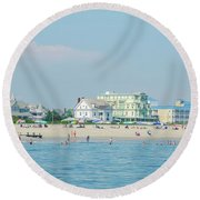 Round Beach Towel featuring the photograph A Day At The Beach - Cape May New Jesey by Bill Cannon