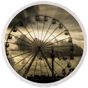 Round Beach Towel featuring the photograph A Day At The Fair by Chris Lord