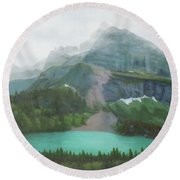 A Day In Glacier National Park Round Beach Towel