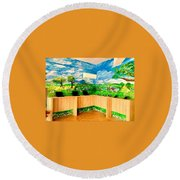 A Day In The Park  Round Beach Towel