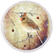 A Delicate Thing Round Beach Towel by Betty LaRue