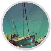 A Different View Round Beach Towel
