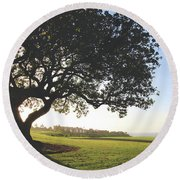 Round Beach Towel featuring the photograph A Dreamy Dream by Laurie Search