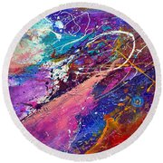 A Faded Memory Round Beach Towel