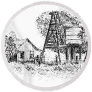 A Farm In Schroeder Round Beach Towel