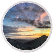 A Feeling Of The Presence Of God - Digital Painting Round Beach Towel