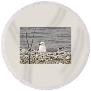 A Few Moments Of Peace Round Beach Towel
