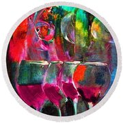 A Flight In The Nothing Round Beach Towel by Lisa Kaiser