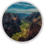 A Forever View Round Beach Towel