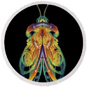 A Fractal Bug Round Beach Towel