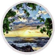 Heaven On Maui Round Beach Towel