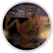 A Frogs World Round Beach Towel