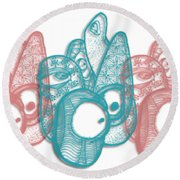 A Gathering Round Beach Towel by Uncle J's Monsters