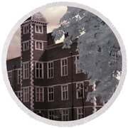 A Glimpse Of Charlton House, London Round Beach Towel by Helga Novelli