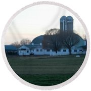A Glorious Amish Evening Round Beach Towel