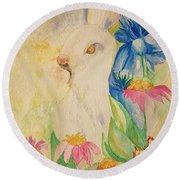 A Golden Day's Glory Round Beach Towel by Maria Urso