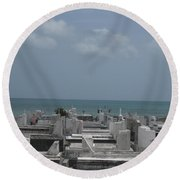 A Good View  Round Beach Towel by Robert Margetts
