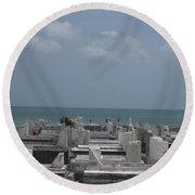 A Good View  Round Beach Towel