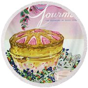 A Gourmet Cover Of A Souffle Round Beach Towel