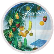 A Gourmet Cover Of Marzipan Fruit Round Beach Towel