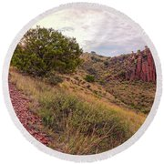 A Great Day For A Hike - Indian Lodge Trail Davis Mountains State Park - Fort Davis West Texas Round Beach Towel
