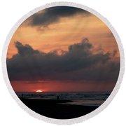 A Hatteras Sunrise Round Beach Towel
