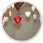 A Heart Among Hearts I Round Beach Towel
