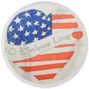 A Heart Of Love  Round Beach Towel