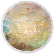 A Heart So Big - Custom Version 4 - Abstract Art Round Beach Towel