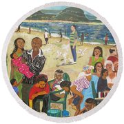 A Heavenly Day - Lumley Beach - Sierra Leone Round Beach Towel