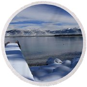 A Heavenly View Round Beach Towel