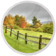 A Highland Forest Autumn Round Beach Towel
