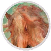 A Horse Called Copper Round Beach Towel