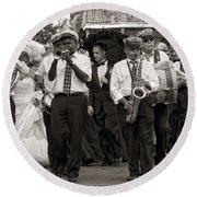A Jazz Wedding In New Orleans Round Beach Towel