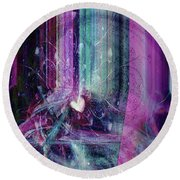 Round Beach Towel featuring the digital art A Kind Heart by Linda Sannuti
