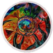 A Kind Of Flower Round Beach Towel