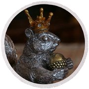 A King For A Day Round Beach Towel by Yvonne Wright