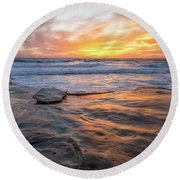 A La Jolla Sunset #2 Round Beach Towel