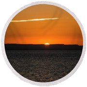 A La Paz Sunset Round Beach Towel