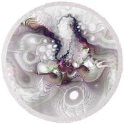 A Leap Of Faith - Fractal Art Round Beach Towel